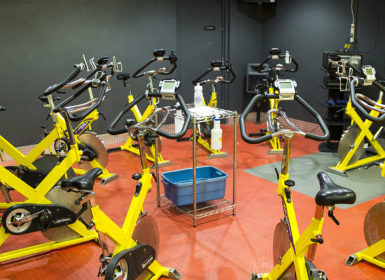Amerifit fitness club spin room